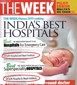 DESUN features in national survey of the best hospitals in India, conducted by The WEEK/Hansa